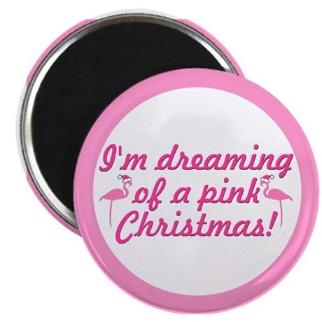 """Pink Christmas 2.25"""" Magnet (100 pack)"""