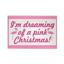 Pink Christmas Rectangle Magnet