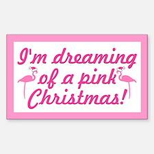 Pink Christmas Rectangle Decal