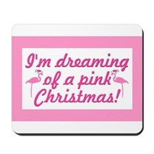 Pink Christmas Mousepad