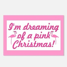 Pink Christmas Postcards (Package of 8)