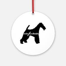 Wire Fox Terrier DESIGN Ornament (Round)