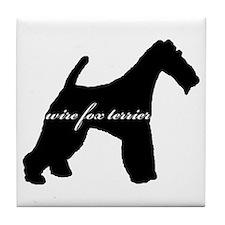 Wire Fox Terrier DESIGN Tile Coaster
