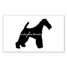 Wire Fox Terrier DESIGN Rectangle Decal
