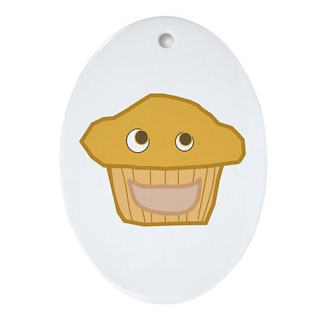 Plain Muffin Oval Ornament