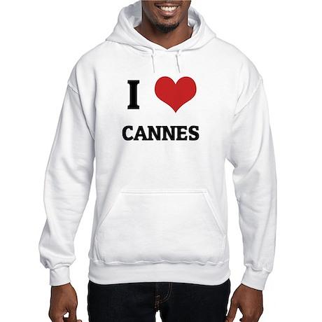 I Love Cannes Hooded Sweatshirt