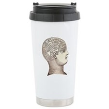 Phrenology Head Travel Mug