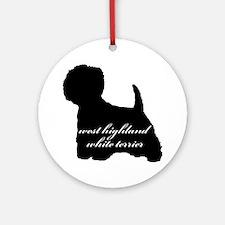 Westie DESIGN Ornament (Round)