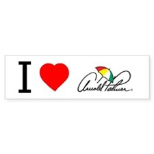 'I Love Arnold Palmer' Bumper Sticker.