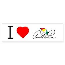 'I Love Arnold Palmer' Bumper Sticker.
