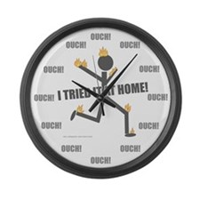 Don't Try At Home Large Wall Clock