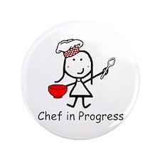 """Chef - In Progress 3.5"""" Button"""