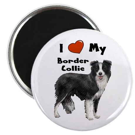 I Love My Border Collie Magnet