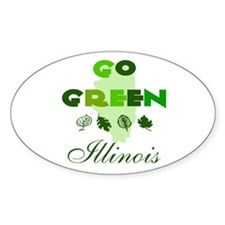 Go Green Illinois Oval Decal