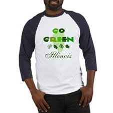 Go Green Illinois Baseball Jersey