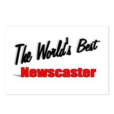 """""""The World's Best Newscaster"""" Postcards (Package o"""
