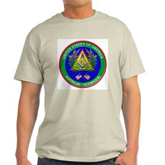 Masonic Proud American Mason Ash Grey T-Shirt