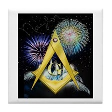 Celebrate Freemasonry Tile Coaster