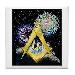 Celebrate Freemasonry Tile Coaster