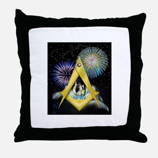 Celebrate Freemasonry Throw Pillow