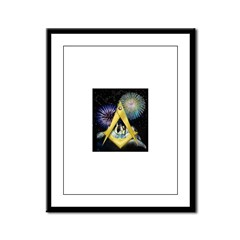 Celebrate Freemasonry Framed Panel Print