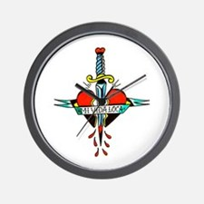 Mi Vida Loca Tattoo Art Wall Clock