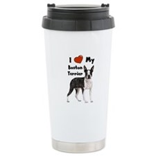 I Love My Boston Terrier Travel Mug