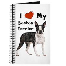 I Love My Boston Terrier Journal
