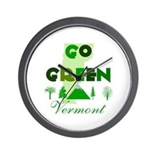 Go Green Vermont Wall Clock