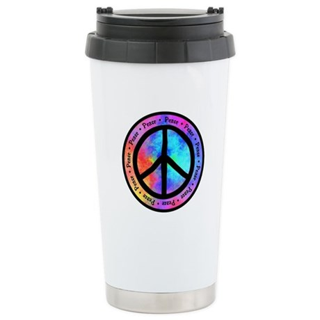 Distorted Peace Sign Stainless Steel Travel Mug
