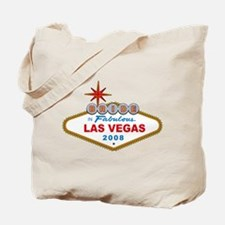 Bride In Fabulous Las Vegas Sign 2008 Tote Bag