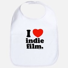 I Love Indie Film Bib