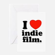 I Love Indie Film Greeting Card