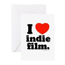 I Love Indie Film Greeting Cards (Pk of 10)