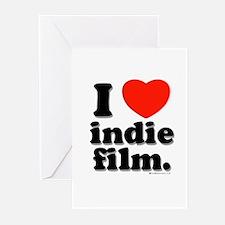 I Love Indie Film Greeting Cards (Pk of 20)