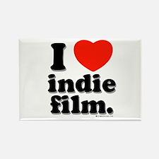 I Love Indie Film Rectangle Magnet