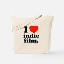 I Love Indie Film Tote Bag