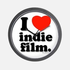 I Love Indie Film Wall Clock