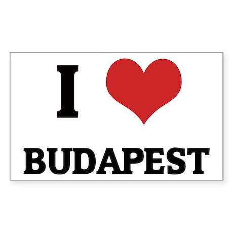 I Love Budapest Rectangle Sticker