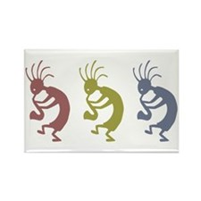 Kokopelli Line Rectangle Magnet
