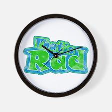That's Rad Wall Clock