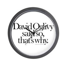 David Oglivy Wall Clock