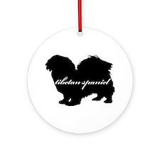 Tibetan Spaniel DESIGN Ornament (Round)