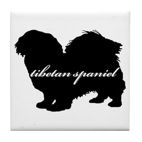 Tibetan Spaniel DESIGN Tile Coaster