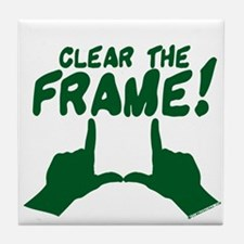 Clear the Frame! Tile Coaster