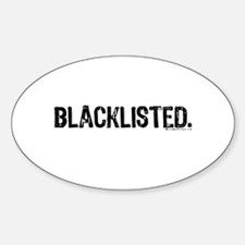 Blacklisted. Oval Decal