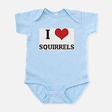 I Love Squirrels Infant Creeper