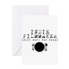 Filmmaker - will work for food! Greeting Card