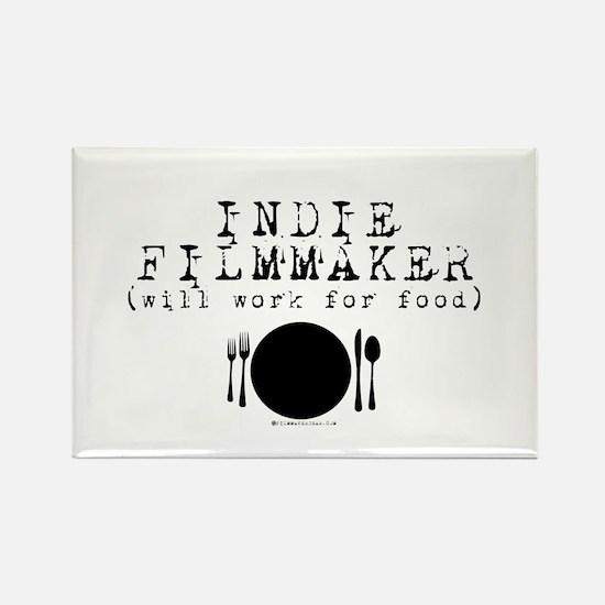 Filmmaker - will work for food! Rectangle Magnet