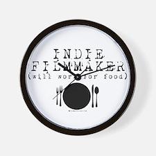Filmmaker - will work for food! Wall Clock